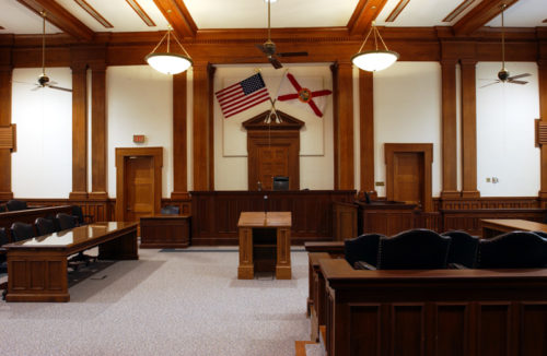 Divorce courtroom